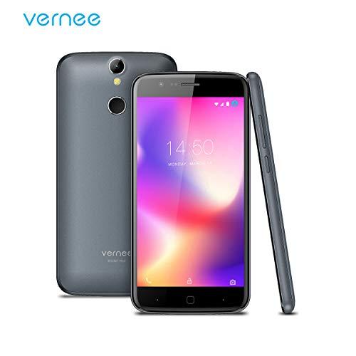 Vernee Thor Smartphone Ohne Vertrag, Android 7.0 OS, Dual Sim Dual Standby, 4G Handy, mit 5 Zoll HD Bildschirm, 2.5D Gorilla Glass, 3GB RAM, 16GB ROM, 2800 mAh Akku, 13MP Hinten&5MP Frontkameras, MTK6753 Octa-Core 1.3GHz Prozessor, Fingerabdruck Entsperren (Grau)