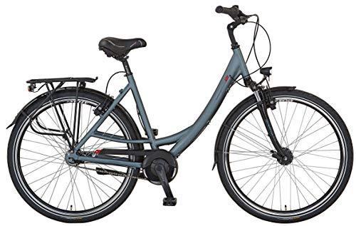 """Prophete Unisex- Erwachsene GENIESSER 9.6 City Bike 28\"""" Cityfahrrad, grau matt, RH 52 cm"""