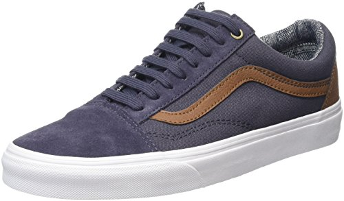 Vans Old Skool, Sneakers Basses Mixte Adulte, Gris (C&L Periscope/True White), 43 EU