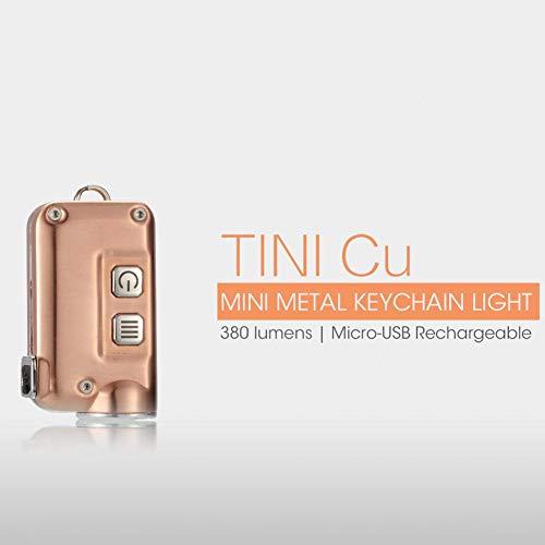 xiangpian183 Tragbare Mini-Hand-Taschenlampe - USB wiederaufladbarer Schlüsselanhänger, Wasser- und stoßfest, 380 Lumen, ideal für Camping, Outdoor, Zuhause, Notfall Tini Cu (Mini-taschenlampe Bulk)