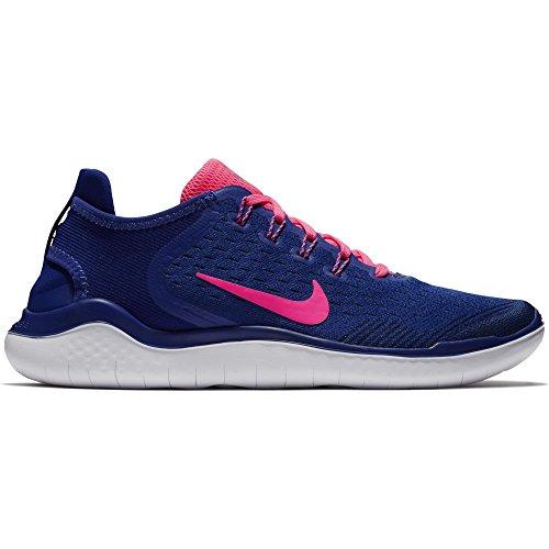 Nike Damen Free RN 2018 Laufschuhe, Mehrfarbig (Deep Royal Blue/Pink Blast/Obsidian 403), 38 EU