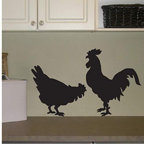 Myvovo Zwei Nette Hahn Sihouettes Vinyl Wandaufkleber Home Küche Kunst Coole Zeitgenössische Kunst Wandtattoos Wandbild Tier Serie Aufkleber 45 * 56 Cm - Serie Zeitgenössischer Wohnzimmer