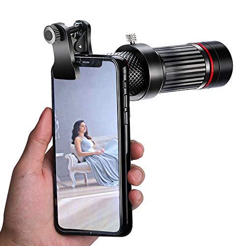 JZWDMD Handy Kamera Lens Kit, Universal 18x Zoom Teleobjektiv+Stativ für iPhone X/8/7/6/6S Plus Samsung Android und Telefon - Starburst-objektiv