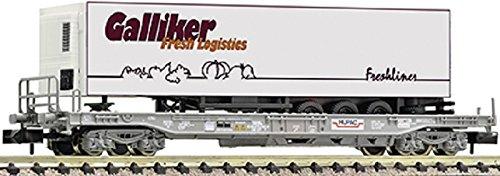 Fleischmann 845359 Einheitstaschenwagen mit Auflieger Galliker Foodliner, HUPAC