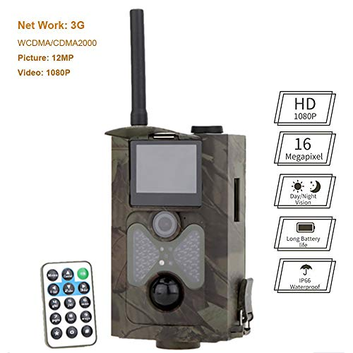 Mengen88 3G Wildlife pequeña Escala de la cámara con 12MP 1080P, 120 ° PIR ángulo detección 20m IR Leds CAM Vida Silvestre Bosque Fauna encuestas Granja Seguridad del hogar