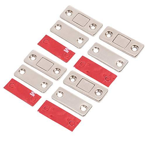HWMATE Ultradünne Eisenschranktür-Magnete, Magnetverschluss, für Schiebetüren, Fenster, Küche, Schrank, 4 Stück