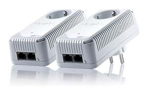 Devolo dLAN 500 duo+ Starter Kit (500 Mbit/s, 2 Adapter im Set, 2x LAN Port, Steckdose, Datenfilter, Netzwerk, Powerline) weiß