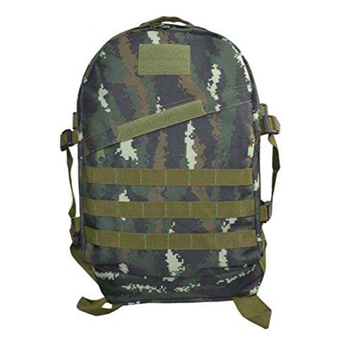 Outdoor Bergsteigen Tasche 40L3D Militär Tarnung Rucksack Klettern Wandern täglich Camping Taschen und Taschen 001