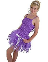 Small Size 8-10 Adult Fairy Lilac Tutu Dress Short Skirt and Wings Lilac Hen Night Festival