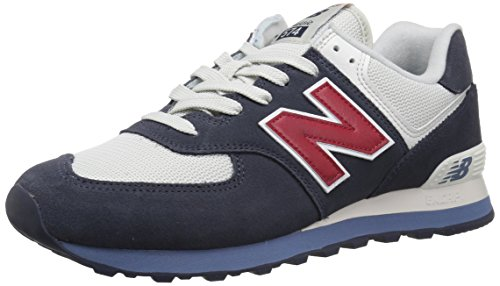 New Balance Ml574v2, Scarpe da Ginnastica Uomo, Multicolore (Blue/White/Red), 43 EU