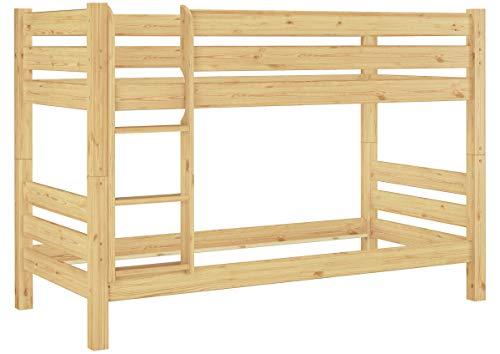 Erst-Holz® Teilbares Etagenbett Massivholz Kiefer 90x200 Hochbett Stockbett Doppelbett 60.11-09 100 oR (Massivholz Etagenbett)