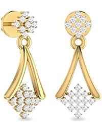PC Jeweller The Zosima 18KT Yellow Gold & Diamond Earring