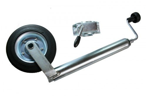 Stützrad mit Halter 48 mm, Bugrad - Anhänger-reifen-halter