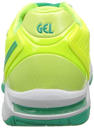 Asics Gel-Solution Speed 2 Clay Synthetik Laufschuh Flash Yellow/Mint/Sharp Green