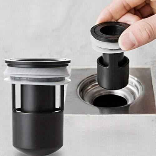 Bodenablauf,Küche Geruchlos Kanalisation Geruch Geruch Bodenablauf Kernstopfen \\ U0026 Play Bodenablauf,Schwarz ()