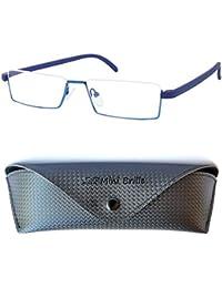 f6a7d219077 Flexibles Gafas de Lectura de Media Montura