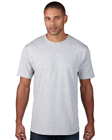 Anvil Adult Organic Fashion T-Shirt Colour=Heather Grey
