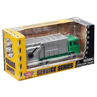 Richmond Toys Service Vehicle Die-Cast Refuse Truck Model with Moving Parts