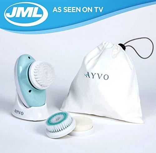 JML Ayvo - Cepillo facial 3 en 1 de belleza exfoliante, limpiador, hid