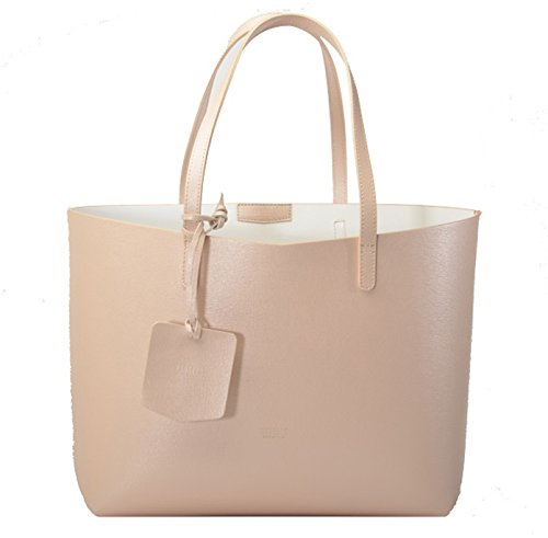 REBELLE FTC Shopper Monica Rose / Blanc en cuir made in Italy