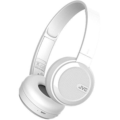 JVC HA-S40BT-B-E Bluetooth On-Ear-Kopfhörer mit kompakter, faltbarer Bauweise, und Neodym-Magnet weiß