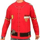 COP Jersey sudadera-camiseta de bomberos para niños, todo el año, infantil, color Rojo - rojo, tamaño 6 años (116 cm)