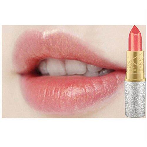 Lip Pigment (Blue Vessel Glitzer Lip Pigment Kosmetik Make-up Nackten Rosa Gold Glitter Lippenstift Langlebige Wasserdichte Lip Gloss kit (03))