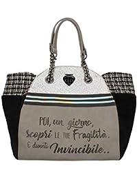 3a42d79507 LE PANDORINE Classic - Invincibile donna, borsa a tracolla, grigio