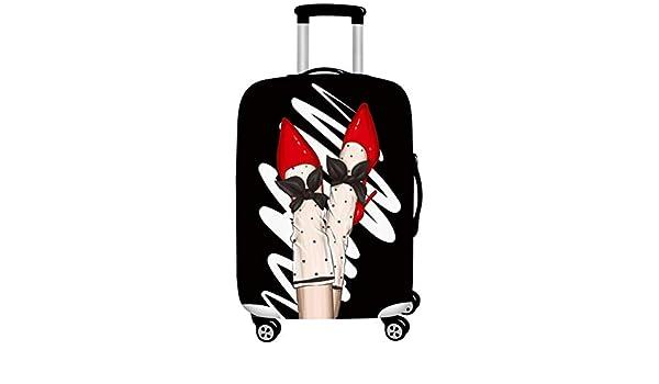 Housse de Valise Impression 3D Bagages Couverture Housse de Protection /épais Polyester Spandex Portable Machine Lavable ne Se fanent Voyage Chariot Housse