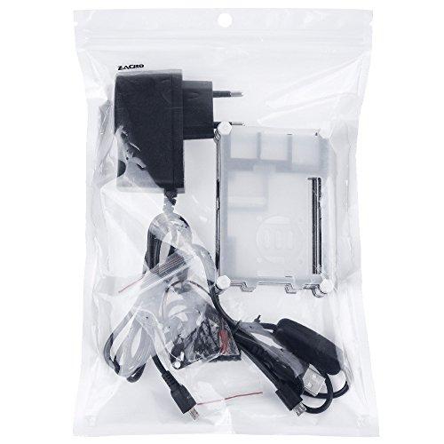 41rMKKP4q1L - Zacro 5-EN-1 Kit para Raspberry Pi 3 y 2, Caja de 9 Capas de Refrigeración + Mini Fan con 4 Tornillos, USB Cable Encendido, 3 Disipador de calor, USB Cable Cargador