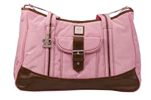 Gorgeous Zippered Top Kalencom Weekender Tote Diaper Bag With With Mesh Storage Pockets - Power Pink Baby / Child / Infant / Kid