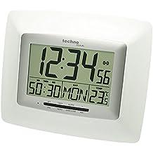 Technoline WS 8100 Reloj de pared digital (plata con batería)