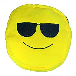 A-Mart Soft toy sling bag smiley emoji goggle yellow for kids girls 8 inch