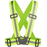 Tolsen - Verstellbar Reflektierende Gürtel Sicherheit Weste mit hoher Sichtbarkeit für Running