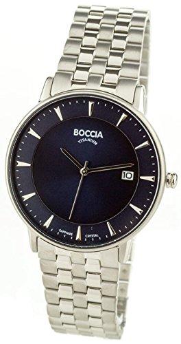 Boccia Homme Digital Quartz Montre avec Bracelet en Titane 3607-03