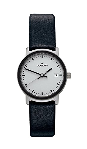 Dugena Women's Design Quartz Watch with Quartz Dial Analogue Display and Black Leather Strap
