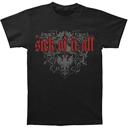 Michaner Walosde Sick Of It All Men's Badge Of Honor T-shirt Black Large