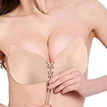 sujetador adhesivo de silicona reutilizable, para mujer sin tirantes invisible push up sin mujer espalda