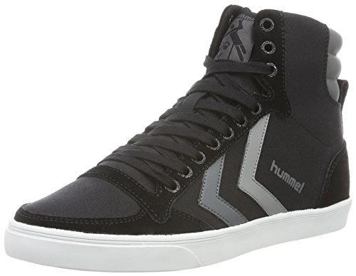hummel Slimmer Stadil Duo Canvas High, Sneakers Hautes Mixte Adulte, Noir (Black), 42 EU