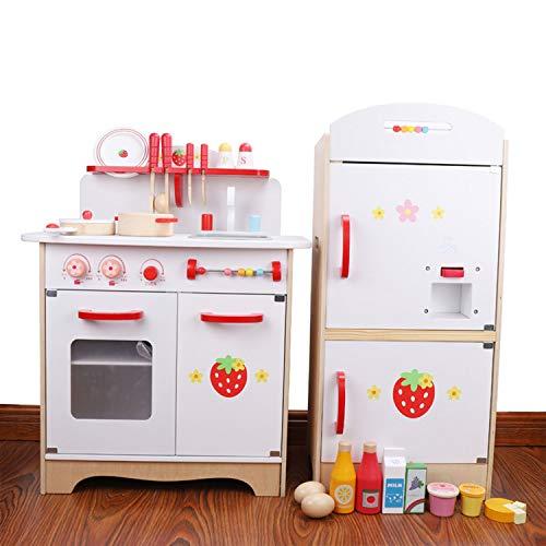 XCXDX Weiße Küche Kühlschrank Spielzeug-Set, Sicher Und Umweltfreundlich, Schöne Accessoires, Luxus-Geschenke, Chef Rollenspiele