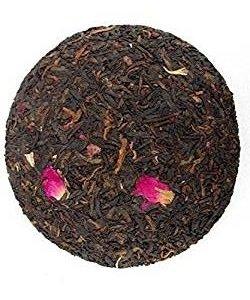 400 grammes de tisane séchée fleur rose mélangée avec du gâteau de thé Pu erh