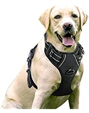 WapaW Dog Harness No-Pull Pet Harness Adjustable Outdoor Pet Vest 3M Reflective Oxford Material Vest for Dogs Easy Control for Small Medium Large Dogs