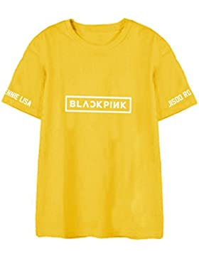KPOP Blackpink Lisa Jisoo Camiseta Unisex Harajuku Algodón Camiseta de Manga Corta Top Tees