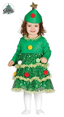 Guirca Costume abete baby albero diNatale bambina 4159_ 6-12 mesi