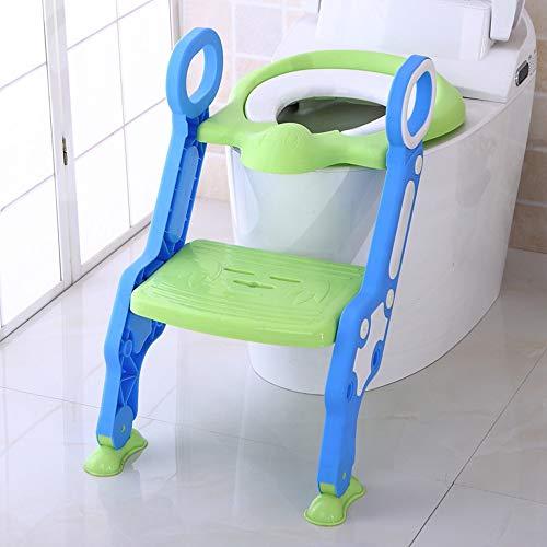 YJLGRYF Baby Wc-sitz Faltbare Verstellbare Leiter Trainingsstuhl Tritthocker Junge Sicherheit Bad Trainer Kindersitz Schritt Hocker (Color : Blue)