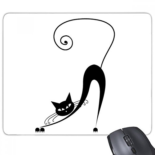 beatChong Black Cat Stretch Halloween Animal Art Silhouette Rectangle Griffige Gummi Mousepad Spiel Mauspad Geschenk Stretch Animal