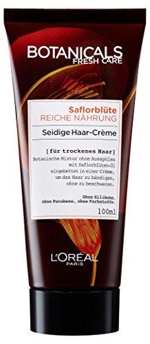 Botanicals Haarcreme Fresh Care Saflorblüte Reiche Nährung, Special: Seidige Haar-Crème für trockenes Haar, Haarpflege ohne Silikon, 1er Pack (1 x 100 ml)