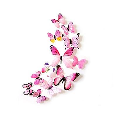 Oblique-Unique® Deko Schmetterlinge 12er Set - wunderschöne farbenfrohe Dekoration - Wandtattoo von Oblique-Unique - TapetenShop