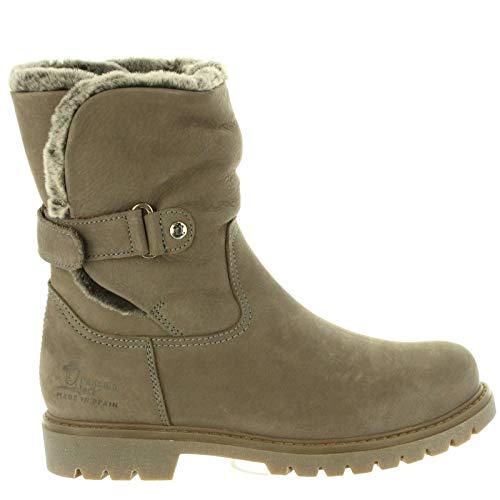 PANAMA JACK Damen Winterstiefel Felia,Frauen Winter-Boots,Fellboots,Fellstiefel,gefüttert,warm,wasserabweisend,Grau,EU 37