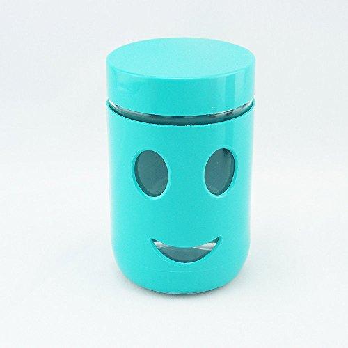 Smiley Aufbewahrungsglas Vorratsdose Kaffeedose Lebensmittel Aufbewahrung (Grün)